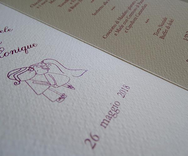 Personalizzazione partecipazione nozze Alprint