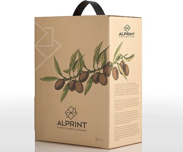 Stampa bag in box olio personalizzato Alprint