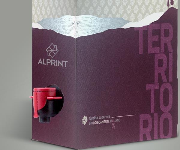 Stampa bag in box wine personalizzato Alprint